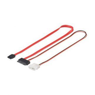 Goobay SATA 0,3m 1.5GBs : 3GBs Slimline + voeding