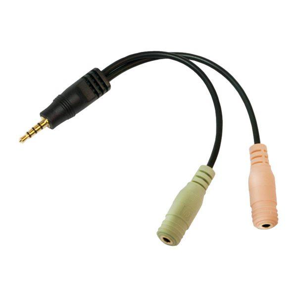 LogiLink Audio Adapter 3.5 mm (M)-> 2x 3.5 mm